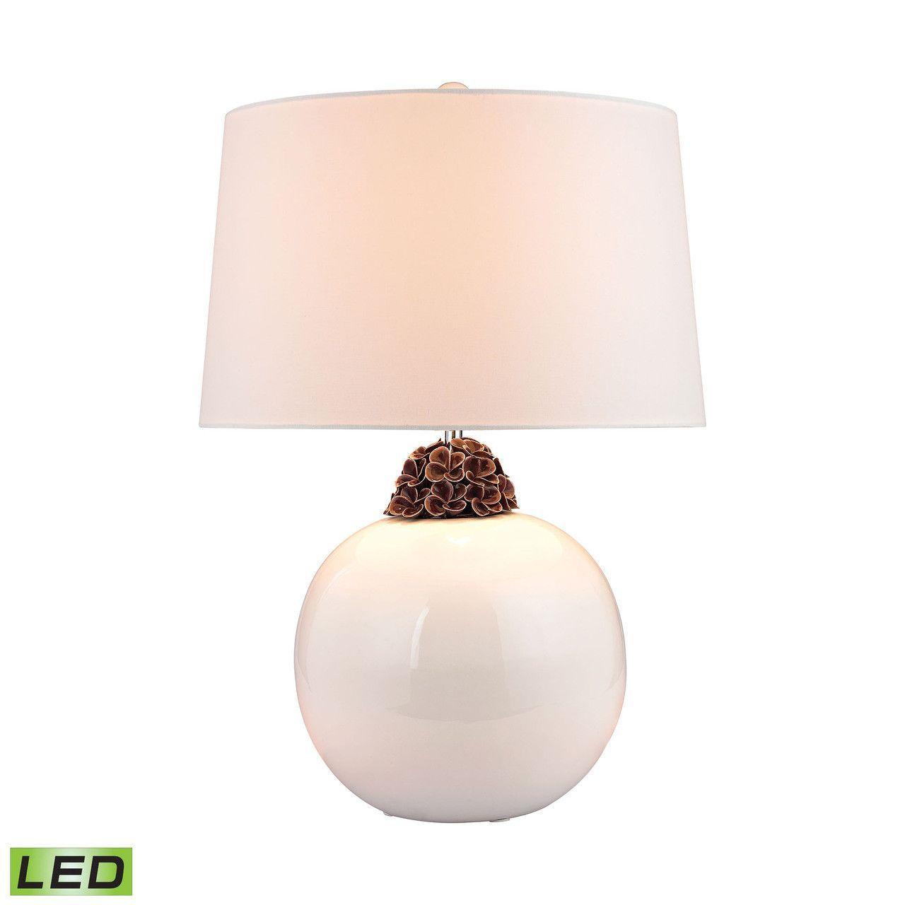Embellished Neck Ceramic LED Lamp D2881-LED