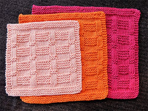 Ravelry Garter Blocks Dishcloth Pattern By Nalhcib Cotton Knit