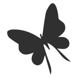 Delicate Butterfly Flying Silhouette Butterfly Design Nature Vector Butterfly