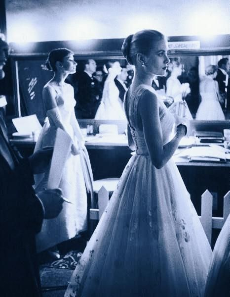 Two iconic women in one room:  Audrey Hepburn & Grace Kelly.