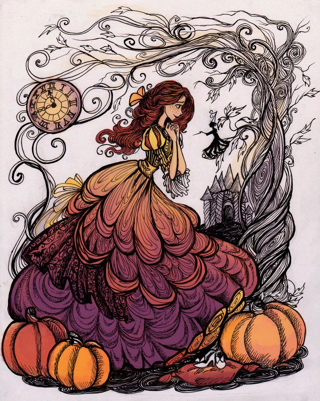 the Pumpkin Princess by La-Chapeliere-Folle.deviantart.com on @DeviantArt