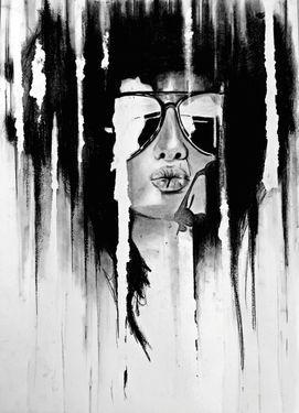 "Saatchi Art Artist Denny Stoekenbroek; Drawing, ""Kiss"" #art (Woolf)"
