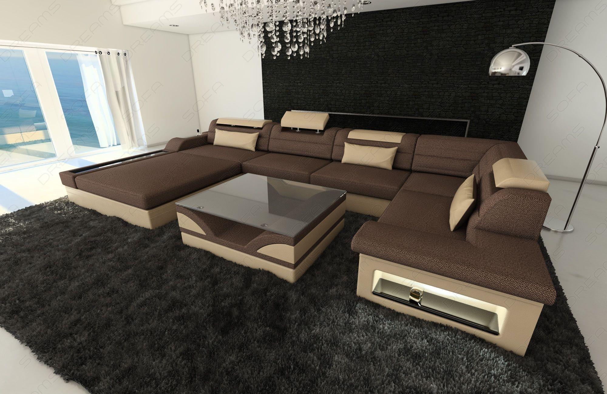 Modern Fabric Sectional Sofa Orlando LED | living room ...