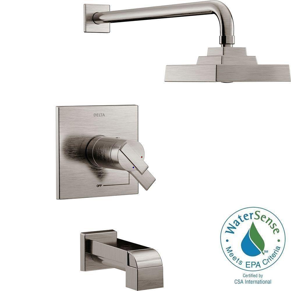 Delta Ara Tempassure 17t Series 1 Handle Tub And Shower Faucet