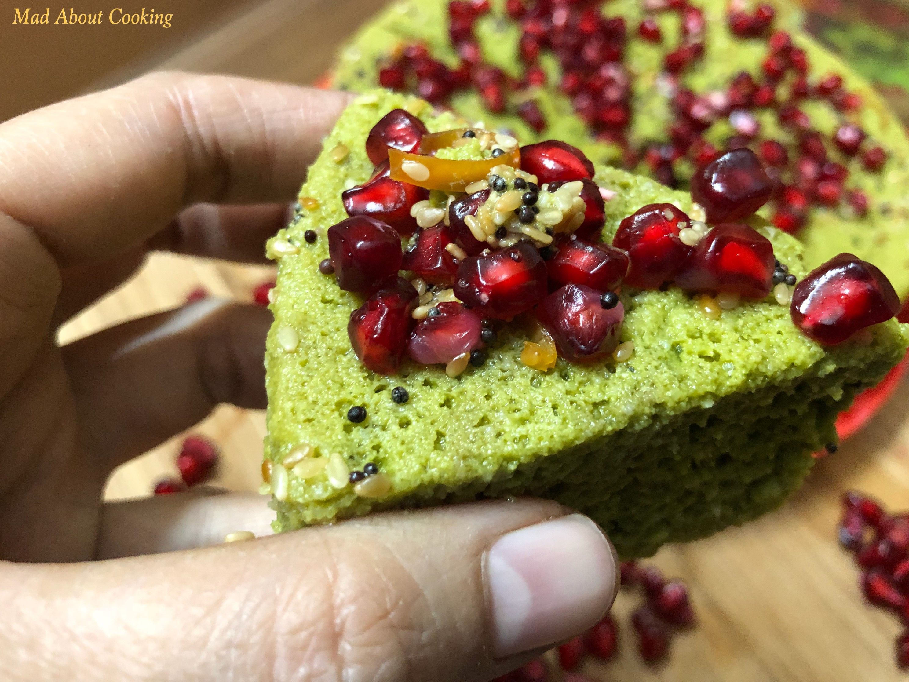 Vegan Spinach Dhokla
