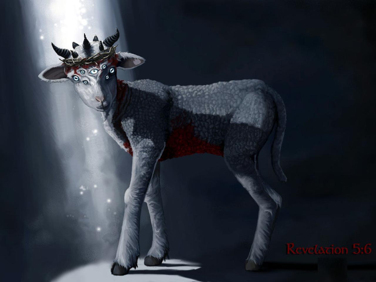 Lamb - 7 Horns - 7 Eyes - Bloo...