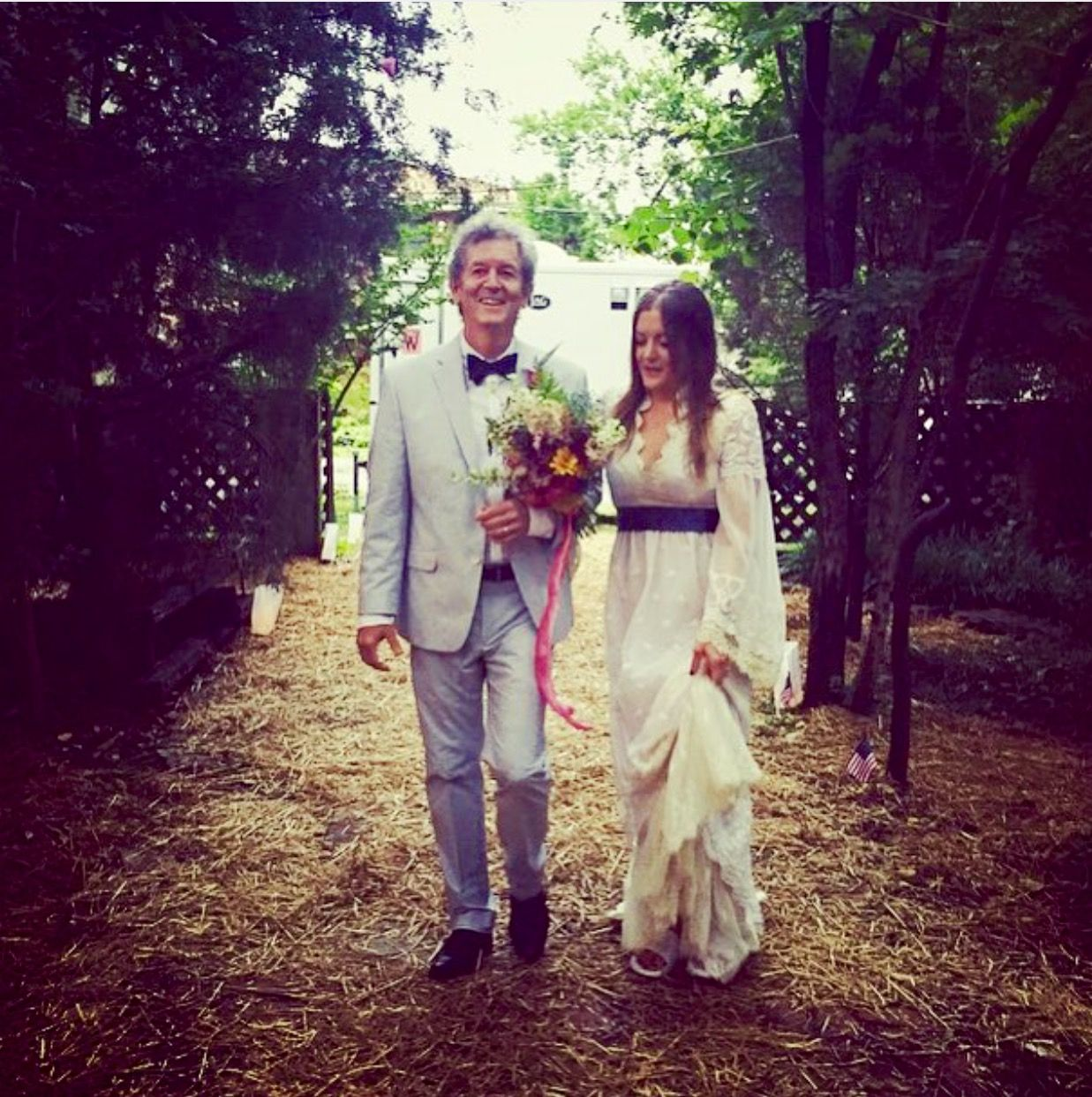 Bride S Father Died Before Her Wedding But Her Brother S: Rodney Crowell And His Daughter Chelsea On Her Wedding Day
