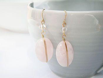 Rose Quartz Wrap Earrings