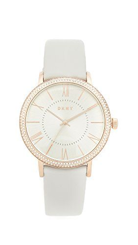 DKNY Womens Willoughby Quartz Stainless Steel and Leather Casual Watch ColorGrey Model NY2545 -- Check this awesome product by going to the link at the image.Note:It is affiliate link to Amazon.