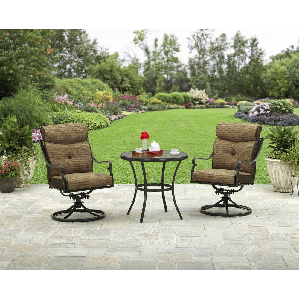 Details About Rust Proof 3 Piece Patio Garden Bistro Set Furniture
