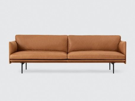 Muuto Outline Sofa, 3 Seater Cognac Leather | Sofas | Pinterest