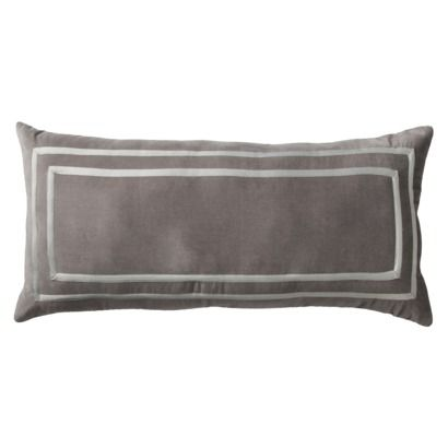 Fieldcrest Luxury Oblong Decorative Pillow Gray Joint Master Bedroom Decorating Ideas
