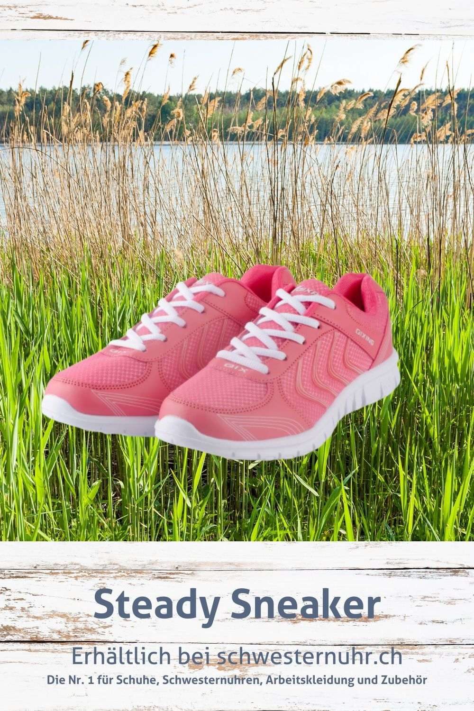 Frühlingsgefühle 🤩🌷 Steady Sneaker Rot für Damen. Nur CHF 39.-! Robuster Turnschuh für Fitness, Spor...