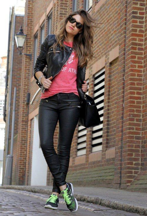 Outfit chaqueta mezclilla negra