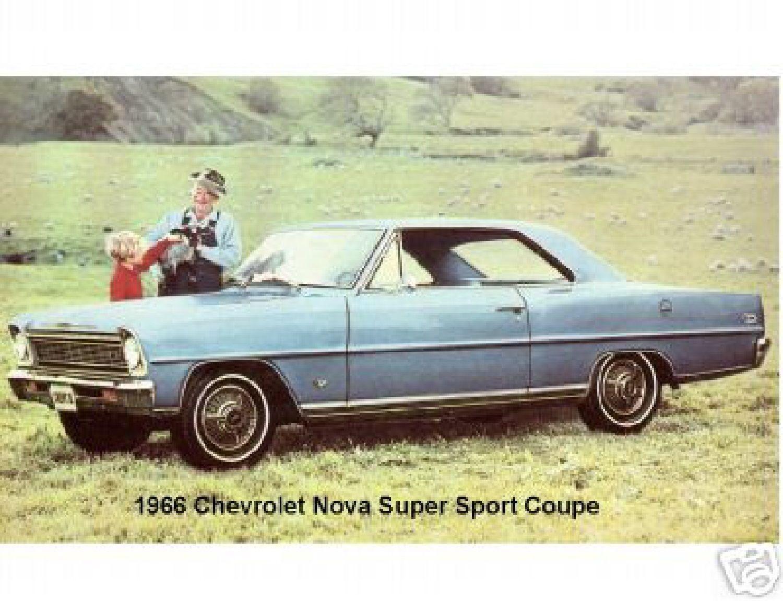 5 5 1966 Chevy Nova Super Sport Refrigerator Magnet Ebay
