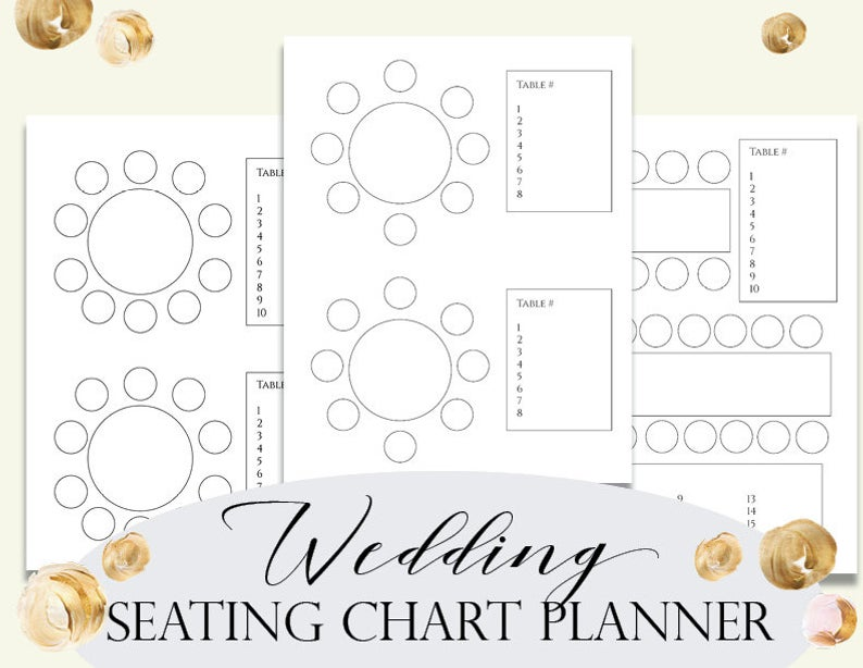Wedding Seating Chart Planner, Seating Plan, Seating Chart