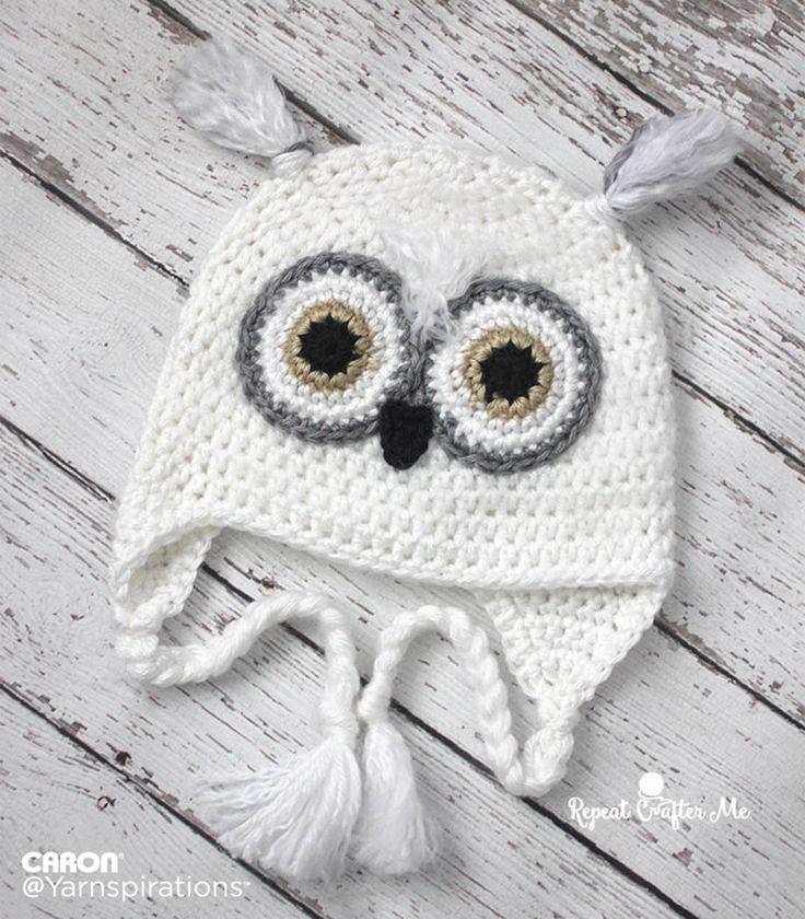 17d790a31 Free pattern. Snowy Owl Crochet Hat | All Things Crochet! Crochet ...