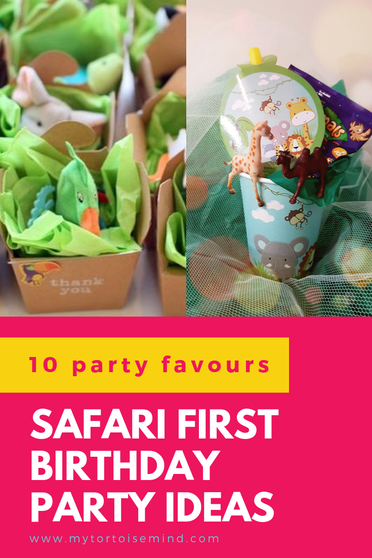 Check out 10 awesome party favour ideas for a safari theme first birthday party #partyfavor #safariparty #firstbirthday #kidsparty #safaribirthdayparty