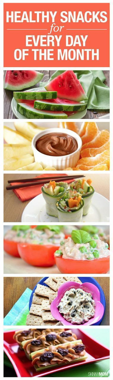 Here is you PERFECT healthy snack list for every day of the month!