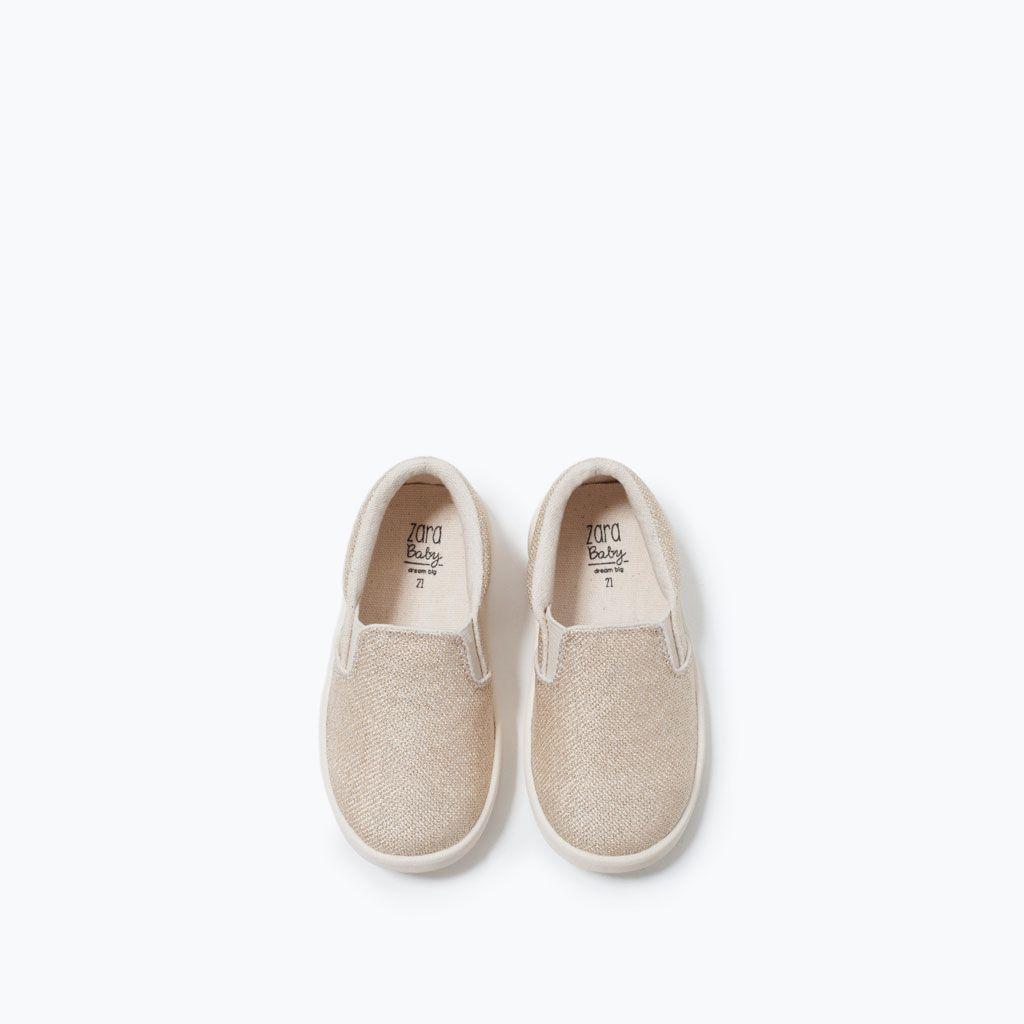 ZARA - BAMBINI - SLIP ON METALLIZZATA | Baby girl shoes ...