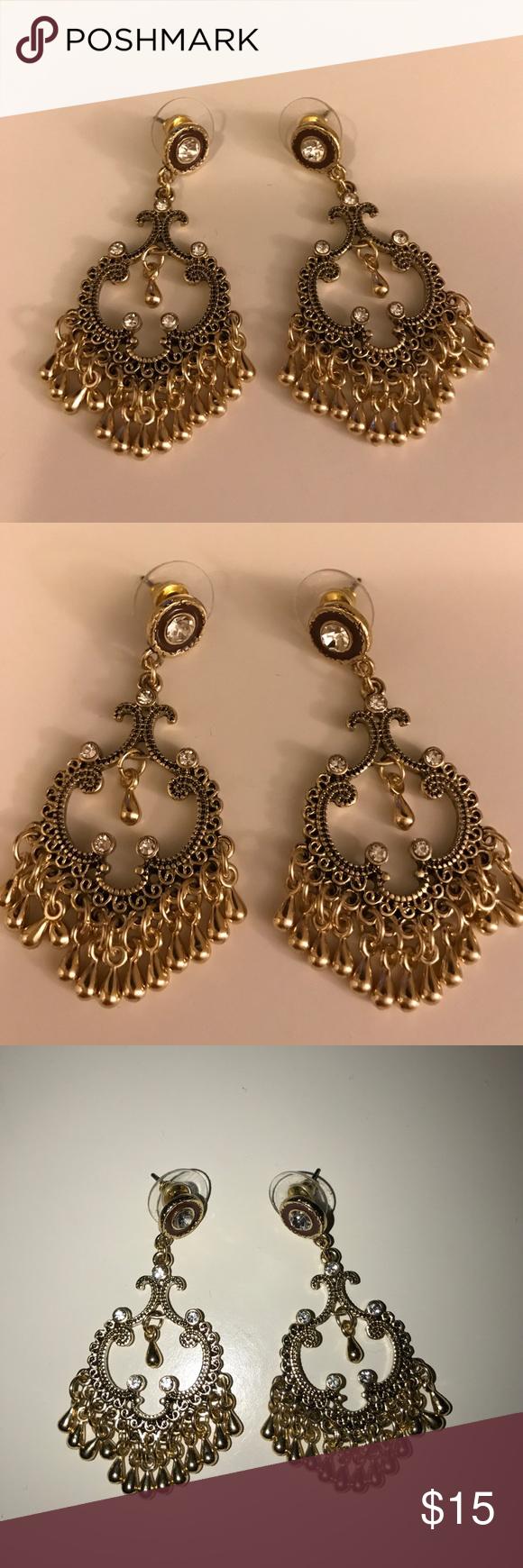 Lulu\'s Gold Chandelier Earrings | D, Chandeliers and Chandelier ...