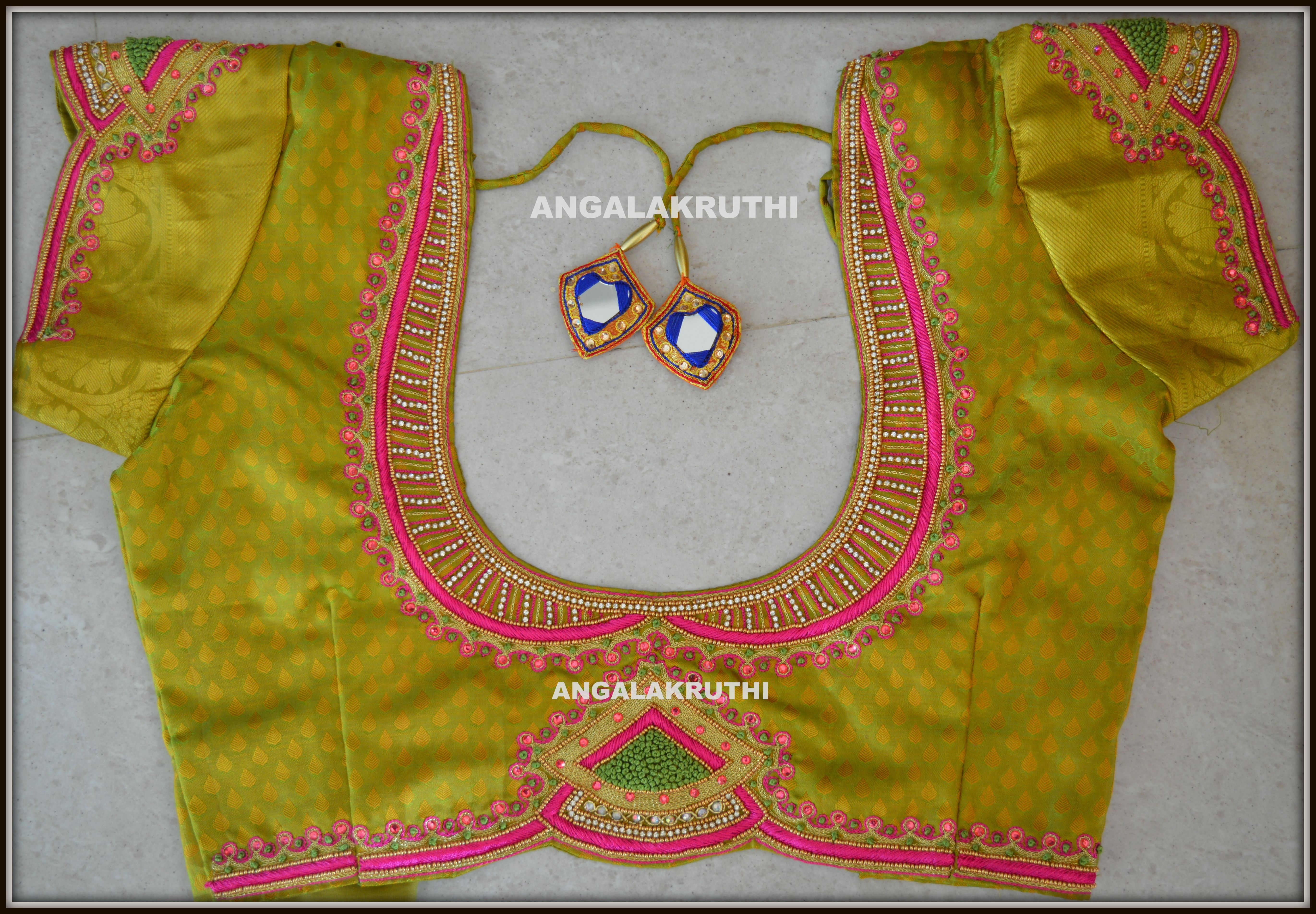 Blouse Hand Embroidery Neck Designs By Angalakruthi Blouse Hand Designs Embroidery Blouse Designs Simple Blouse Designs,All Seeing Eye Pyramid Tattoo Designs