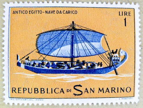 stamp San Marino 1 Lire postage timbre francobolli porto franco bollo Sellos selos San Marino 1 Lire