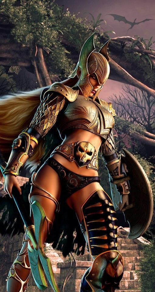 Female Warrior. Is that me or does that look like a Valkyrie minus the wings?