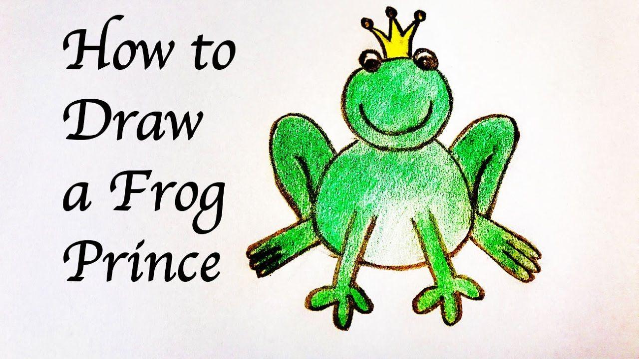Drawing For Kids How To Draw A Frog Prince สอนเด กๆวาดเจ าชายกบแบบน า