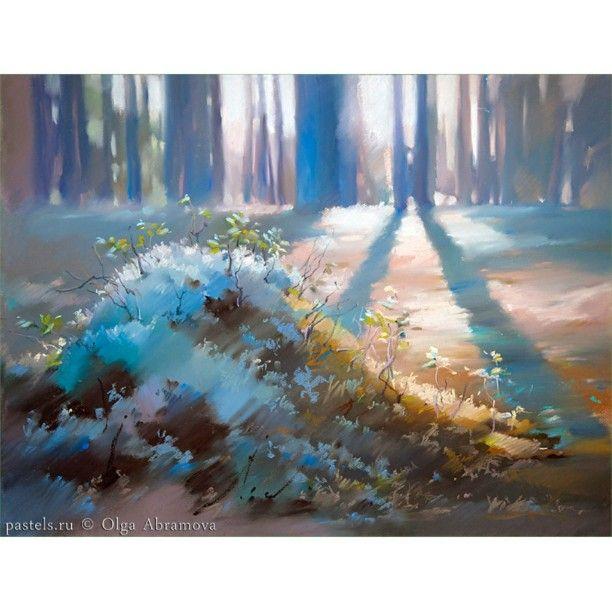 Severnoe Solnce 50h65 Bumaga Pastel Northern Sun Pastel On Paper Pastelpainting Artpastel Russianno Pastel Landscape Pastel Painting Landscape Paintings
