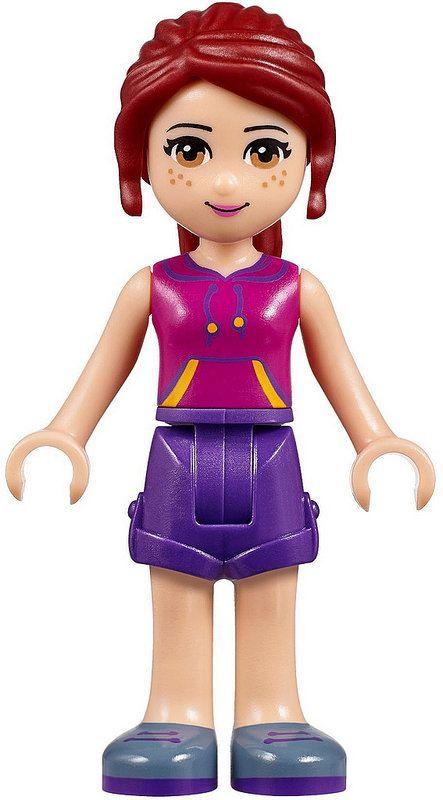Dark Purple Top Minifigure New D2 Lego Friends 41093 Natasha Dark Purple Skirt