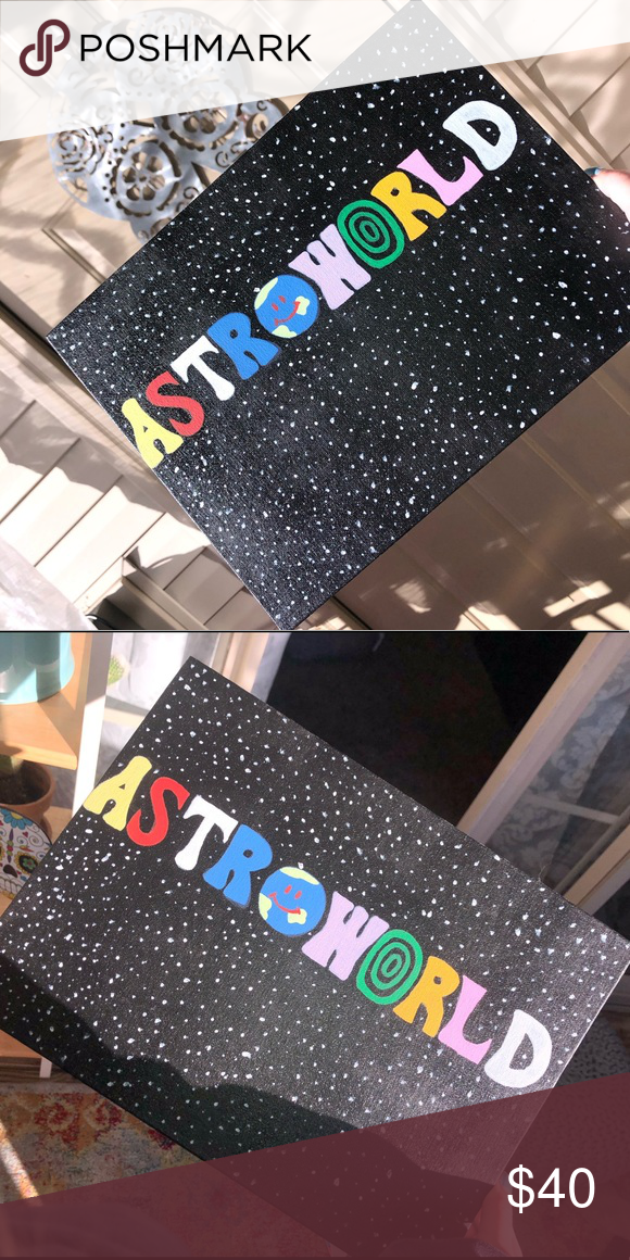 Hand Painted Acrylic Canvas Painting Astroworld Canvas Painting Diy Small Canvas Paintings Canvas Drawings