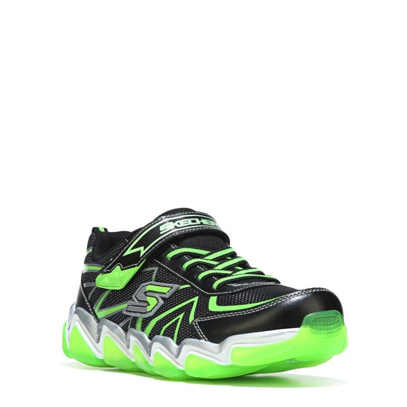 c0edffef6b9c9 Skechers Kids' Skech Air Rupture Memory Foam Sneaker Pre/Grade School Shoes  (Black/Lime Leather) - 10.5 M