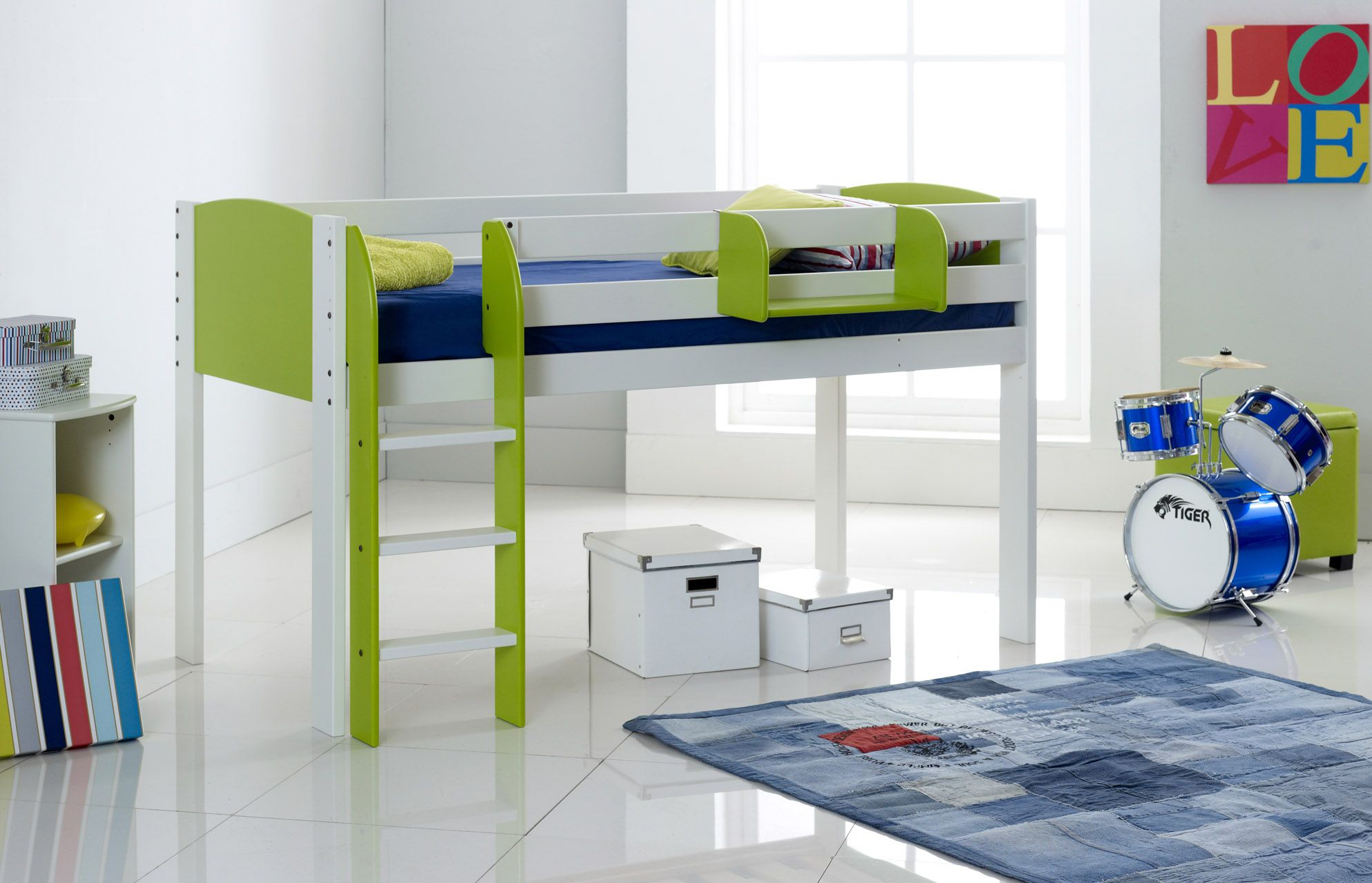 Scallywag Convertible Midsleeper Children's Cabin Bed