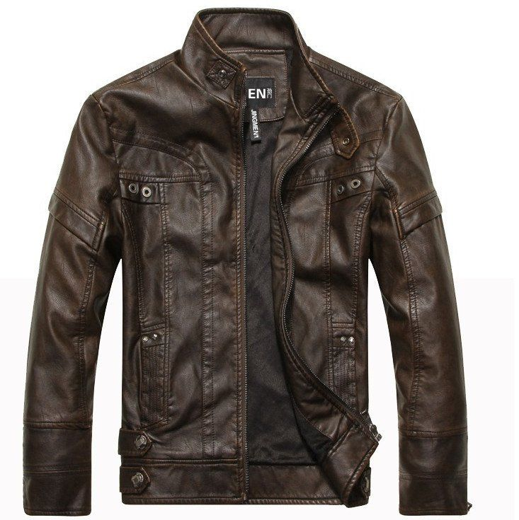 Aeronautical Leather Jacket - Dark Brown | Snazzy Clothes ...