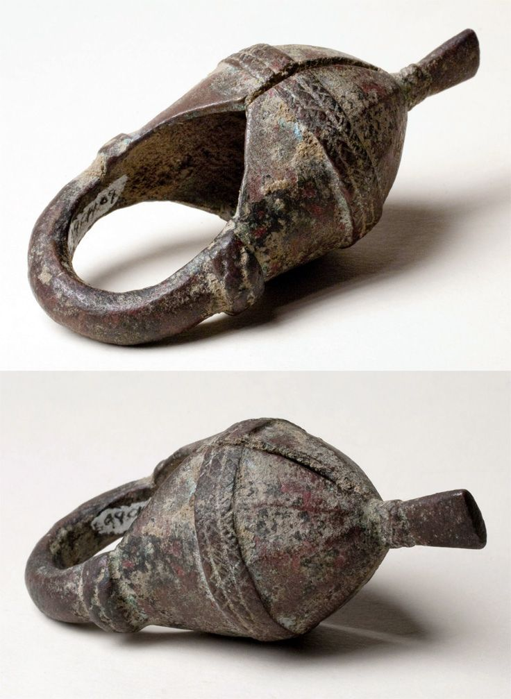 Ivory Coast - 'Crested helmet' ring. cast copper alloy