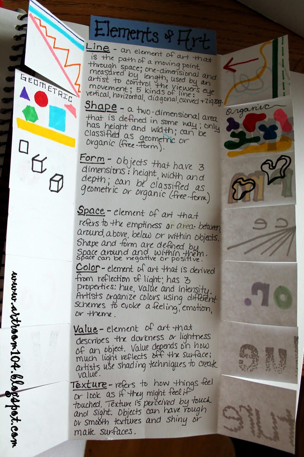 Art Room 104 Studio Art The Elements Of Art And Prang Markers Nice Idea For Beginning Class
