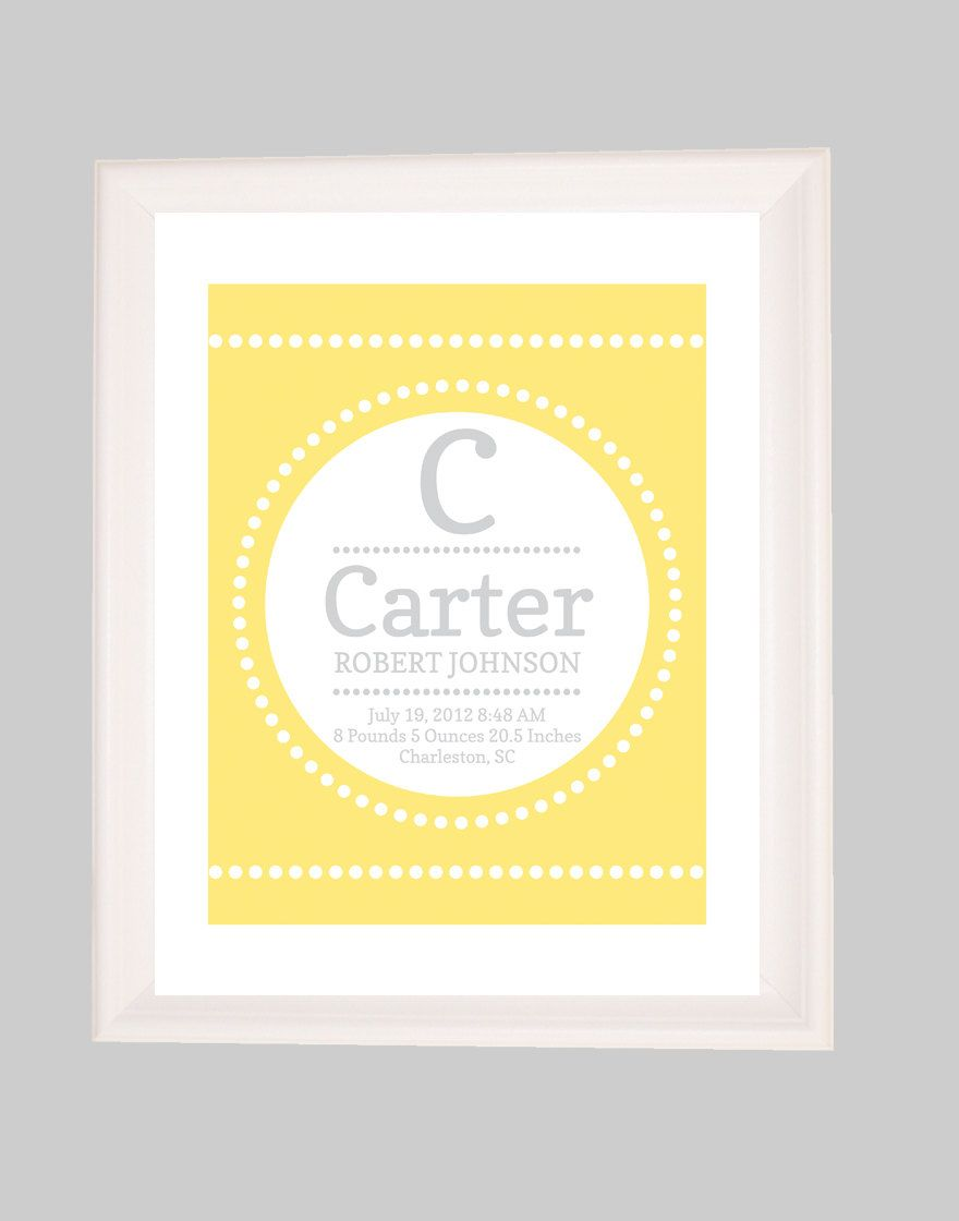 Personalized Childrens Custom Birth Subway Art, Birth Announcement ...
