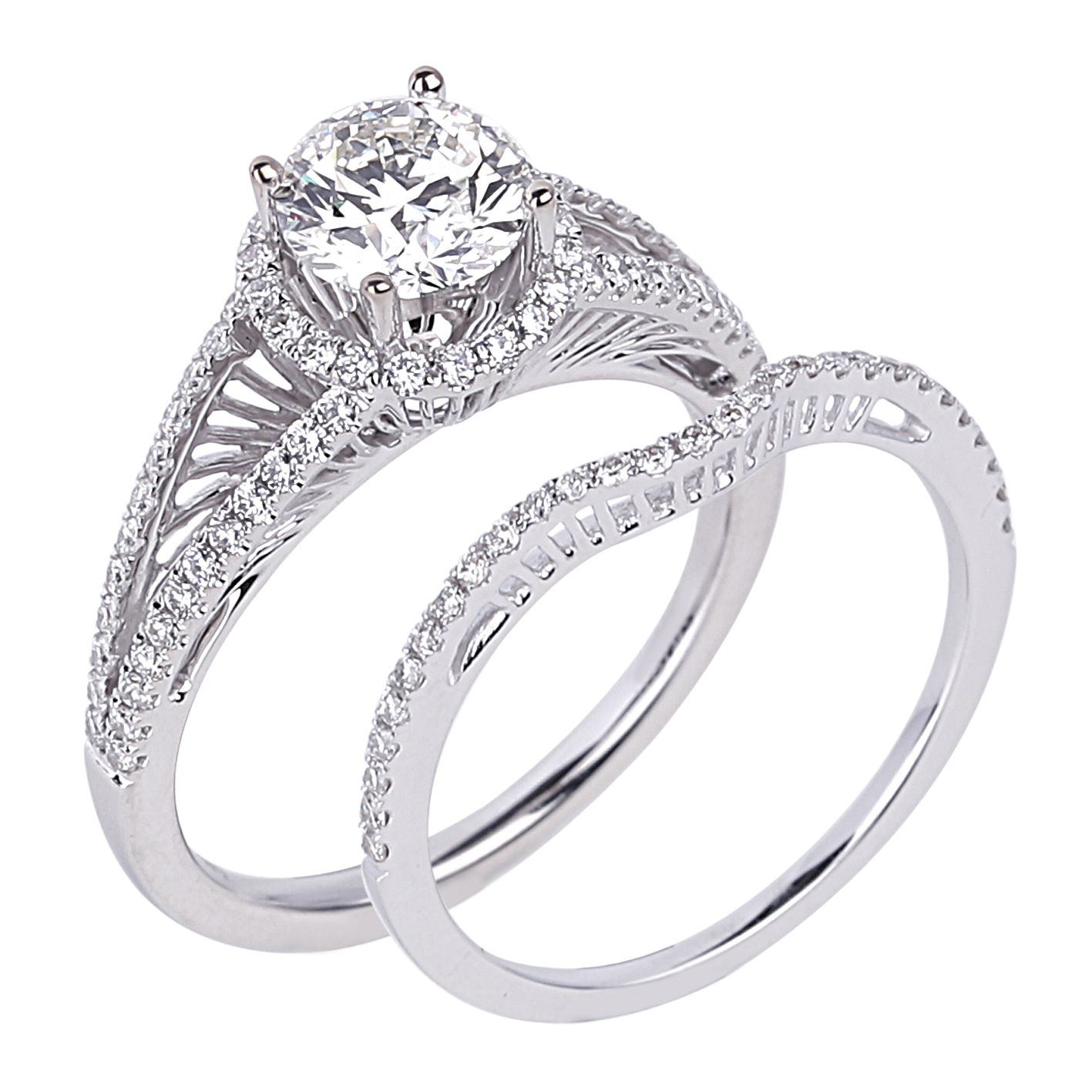 A unique halo ring fit to showcase your dazzling features available