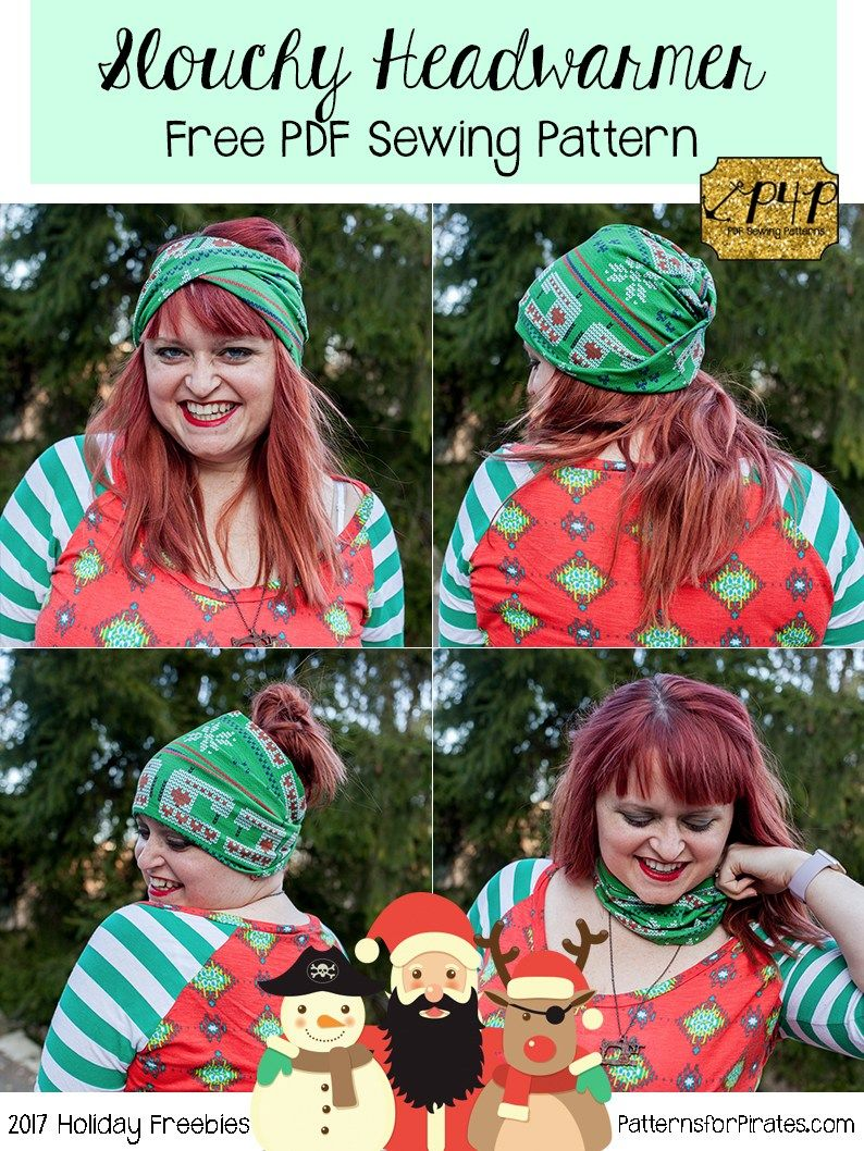 2017 Holiday Freebies :: Slouchy Headwarmer - Patterns for Pirates ...