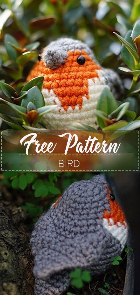 Bird – Free Häkelanleitung – Crochet Love #freeamigurumipatterns