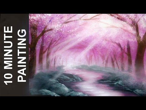 How To Paint Trees Full Slow Video Quot Apple Barrel Quot Acrylics Canvas Lesson Art Class Yout Creative Painting Landscape Painting Tutorial Tree Painting