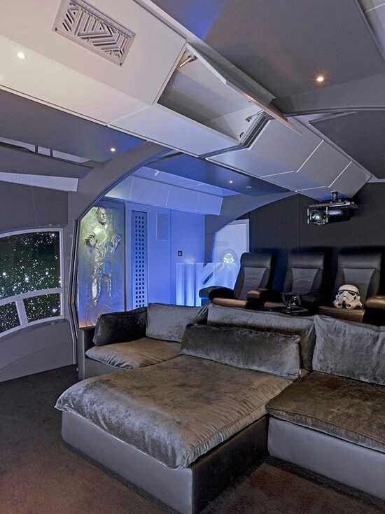 Star wars home decor ideas for the theater design also rh pinterest