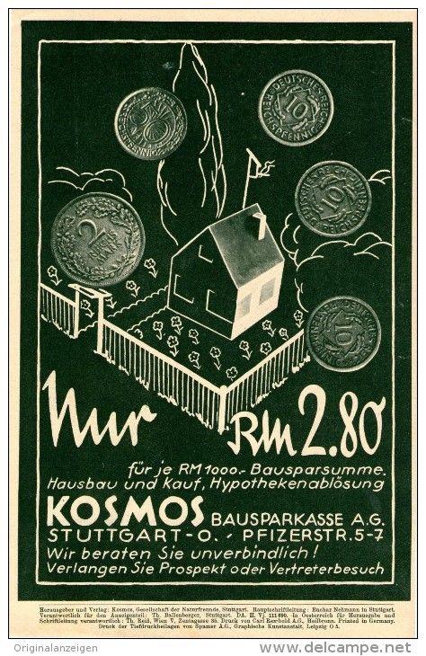 OriginalWerbung/Inserat/ Anzeige 1935 1/1SEITE KOSMOS