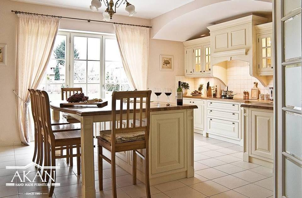 Biala Jasna Zabudowa Kuchni Lite Drewno Biala Kuchnia Stanowisko Piecowe I Wyspa Kuchenna White Kitchen Made By Hands A Modern Kitchen White Kitchen Home
