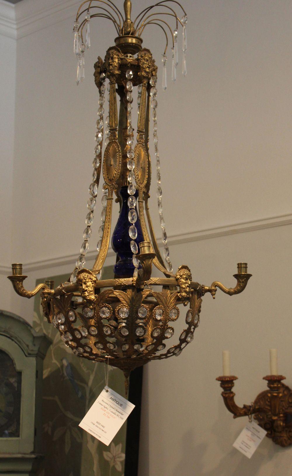 Antique swedish chandelier blue delft redtulips and speculoos antique swedish chandelier mozeypictures Choice Image