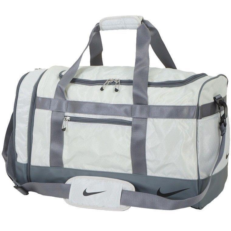 NIKE Core Duffle Bag Boston Medium Sports Sliver Golf Gym Football Tennis  TG0283  NikeGolf  DuffleGymBag 0c3e96291cd6e