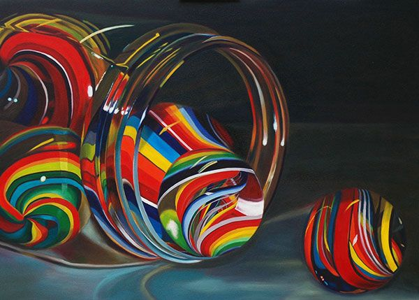 Paintings World Of Marbles Marbles Marble Painting