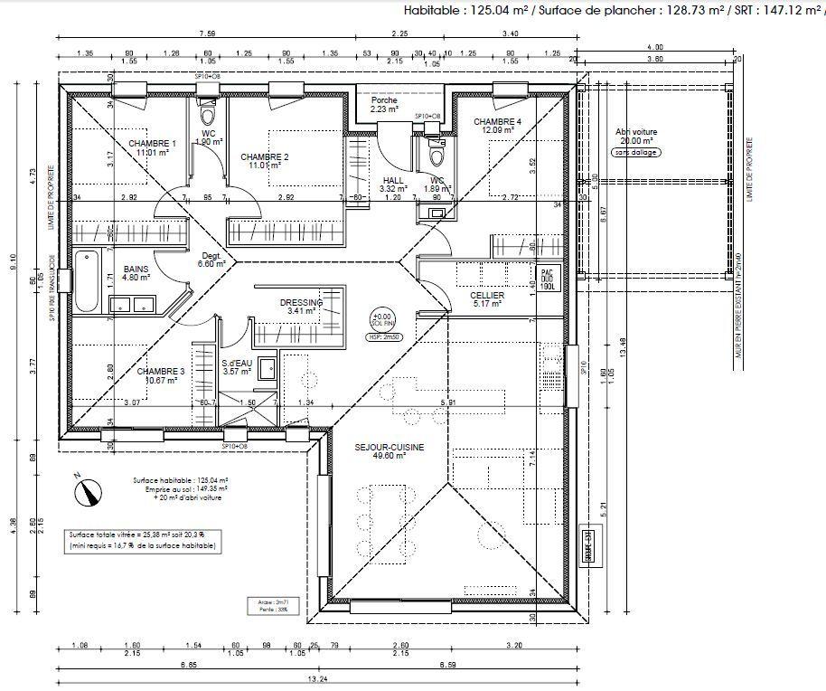 plan 2d notre premire maison 120m 4 chambres par gouzo sur forumconstruirecom - Forum Construire Sa Maison Soi Meme