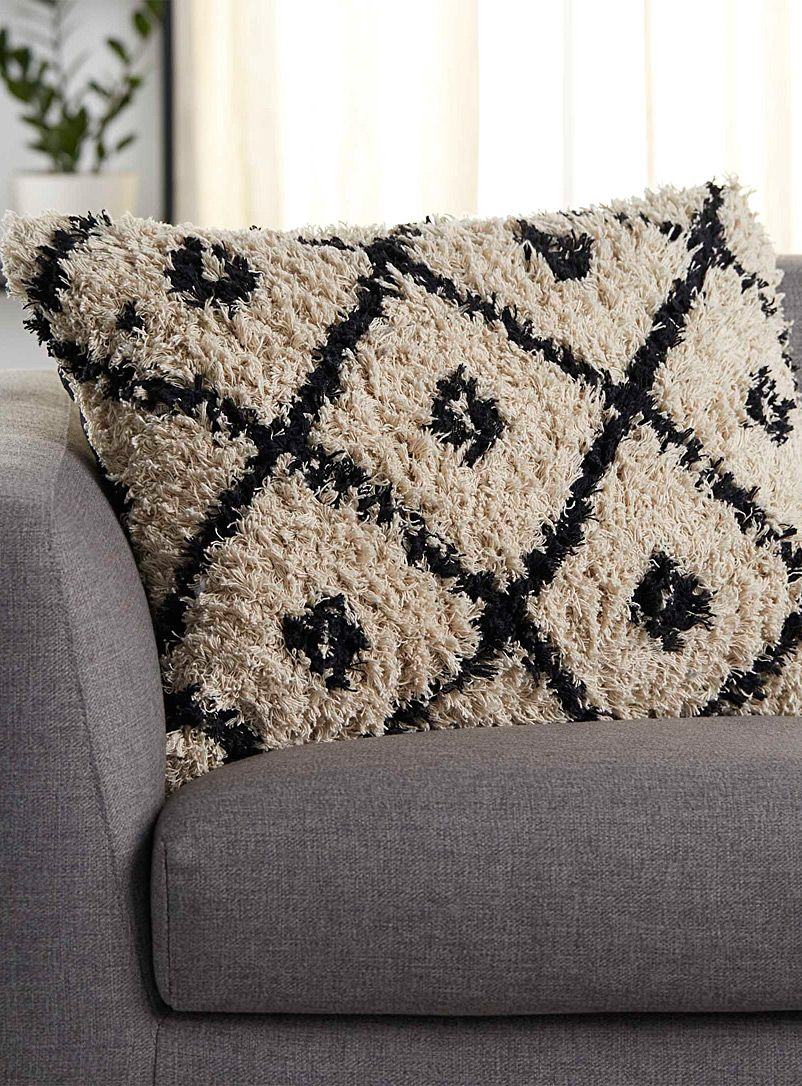 Fringed diamond cushion 50 x 70 cm Simons Maison Shop